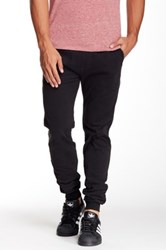 Micros Ace Twill Slim Fit Chino Jogger Black