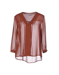Twenty Easy By Kaos Shirts Blouses Women Brown