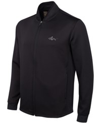 Greg Norman For Tasso Elba Hydrotech Zip Fleece Jacket Only At Macy's Deep Black
