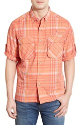 Men's Exofficio 'Outdoor Air Strip' Regular Fit Ventilated Spf Plaid Sport Shirt