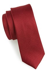 Men's The Tie Bar Woven Silk Tie Burgundy