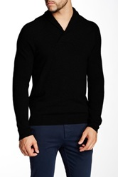 Autumn Cashmere Cashmere Shaw Collar Sweater Black