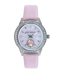 Ted Baker Ladies Rose Goldtone And Leather Watch Pink