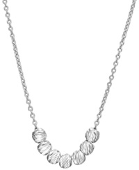 Unwritten Sterling Silver Mini Bead And Chain Necklace