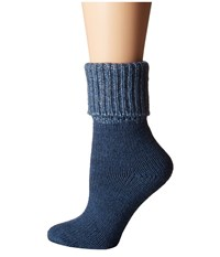 Falke Alchemical Ankle Lapis Women's Crew Cut Socks Shoes Navy