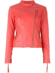 P.A.R.O.S.H. 'Marvel' Biker Jacket Pink And Purple