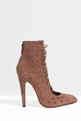 Alaia Women S Chamois Lace Up Boot Boutique1 Pink