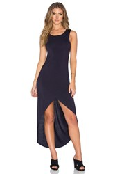 Bishop Young Haley Hi Low Maxi Dress Navy