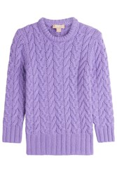 Michael Kors Collection Cashmere Pullover Purple