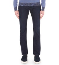 Etro Regular Fit Straight Jeans Navy