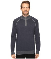 Agave Lundy Long Sleeve Supima Fine Gauge India Ink Men's Long Sleeve Pullover Gray