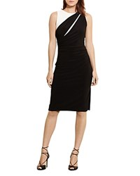 Ralph Lauren Petites Color Block Dress Black Lauren White