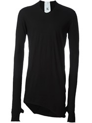 Lost And Found Rooms Asymmetric Longsleeved T Shirt Black