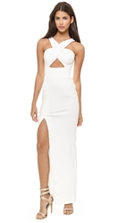 Nicholas Event Crossover Maxi Dress White
