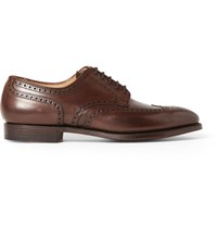 Ralph Lauren Purple Label Rossendale Leather Wingtip Brogues Brown