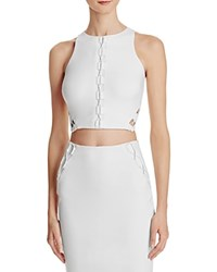 Guess Mona Lace Up Crop Top White