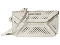 Armani Jeans Leather Continental Bag With Studs White