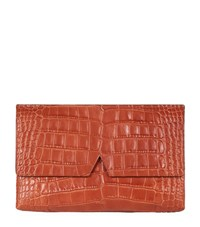 Vince Signature Croc Clutch Bag Female Whiskey