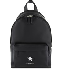 Givenchy Small Star Leather Backpack Black White