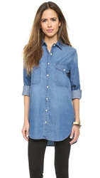 Bb Dakota Dakota Collective Marlow Boyfriend Denim Shirt Light Marble