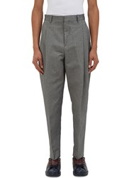 Acne Studios Piano Pleated Chevron Pants Grey