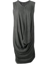 Lost And Found Ria Dunn Short Draped Dress Grey