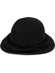 Horisaki Design And Handel Round Felt Hat Black