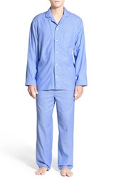 Nordstrom Men's Men's Shop Poplin Pajama Set Light Blue Fine Ox