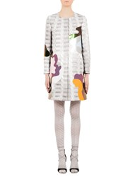 Mary Katrantzou A Line Coat Silver