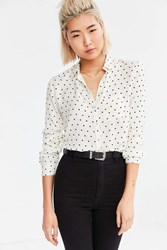 Bdg York Button Down Shirt Black And White