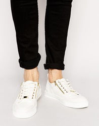 Asos Trainers With Zip White