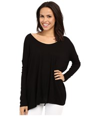 Culture Phit Calista Waffle Knit Oversized Top Black Women's Clothing