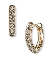 Judith Jack Swarovski Crystal And Sterling Silver Hoop Earrings Gold