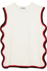 Opening Ceremony Cutout Stretch Cotton Jersey Tank White