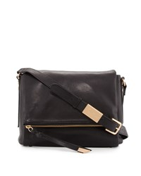 Foley Corinna Charli Leather Messenger Bag Black