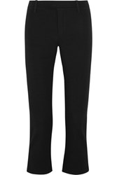 Splendid Daline Cropped Stretch Ponte Flared Pants Black