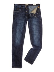 Blend Of America Medium Wash Low Rise Jeans Blue