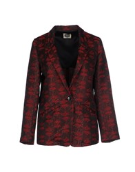 Am Suits And Jackets Blazers Women Maroon