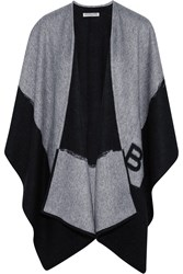 Balenciaga Two Tone Cashmere And Wool Blend Wrap