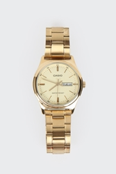 Good As Gold Online Clothing Store Mens And Womens Fashion Streetwear Nz Analogue Watch With Date Display Mtpv003g 9A Gold Gold