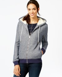 Tommy Hilfiger Faux Fur Lined Hoodie Core Navy