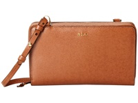 Lauren Ralph Lauren Tate Multi Functional Crossbody Lauren Tan Cocoa Cross Body Handbags