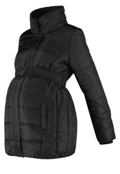 Mama Licious Mlquilty Winter Coat Black