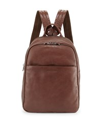 Men's Calf Leather Backpack Brown Brunello Cucinelli