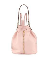 Cynnie Leather Drawstring Backpack Pink Beach Elizabeth And James