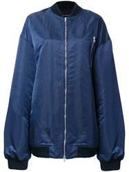 Dressedundressed Oversized Bomber Jacket Blue