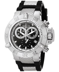Invicta Men's Swiss Chronograph Subaqua Black Silicone And Stainless Steel Bracelet Watch 50Mm 5511