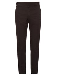 Dolce And Gabbana Cummerbund Waist Side Stripe Tuxedo Trousers Black