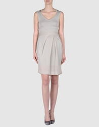 Amaya Arzuaga Short Dresses Light Grey