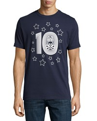 Psycho Bunny Crew Neck Graphic Tee Navy
